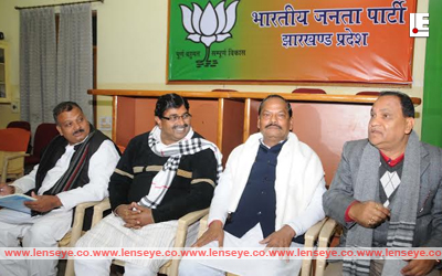 Chief Minister of Jharkhand, Raghubar Das at the party office