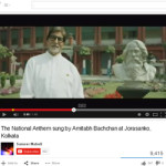 The National Anthem sung by Amitabh Bachchan at Jorasanko, Kolkata.