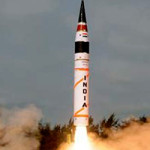 Nuclear Capable Ballistic Missile Agni-V, successfully test-fired