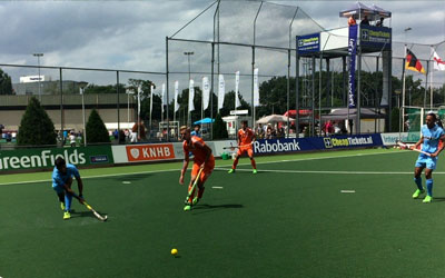 India loses to The Netherlands 1-2 in the Volvo Invitational U-21 (Men) Tournament 2015