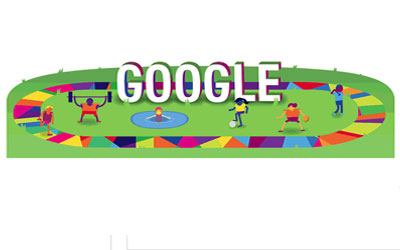 Google marks the beginning of the 47th annual Special Olympics World Games with a animated Doodle.