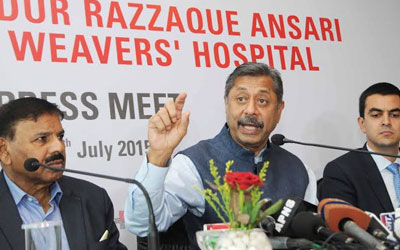 Announcement of the taking over of AbdurRazzaque Ansari memorial Weavers' Hospital by Medanta.