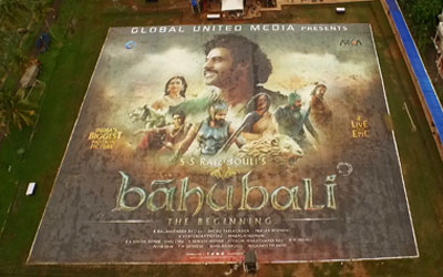 'Baahubali' poster breaks Guinness World Record with world's biggest poster.