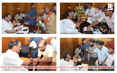 Jharkhand Chief Minister Raghubar Das meets people during Janta Darbar
