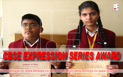 Two Students of Oxford Public School Bagged CBSE Expression Series Award