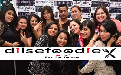 "Love for food with ""Dil se foodie"", a platform for people to come and meet and interact."