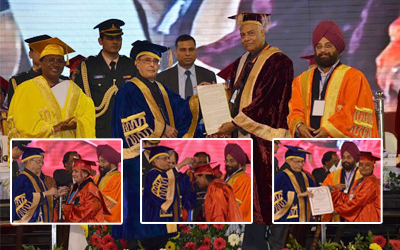 President of India, Pranab Mukherjee attended 7th convocation of Vinoba Bhave University.