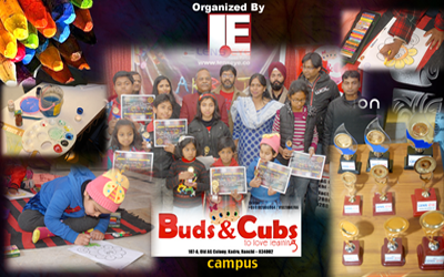Aakriti - 2016, a Drawing & Painting competition by Lens Eye [News portal] in Buds & Cubs School.
