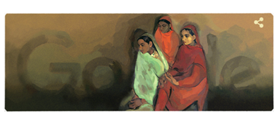 Google Pays Tribute To famous Indian painter, Amrita Shergill with a Doodle.