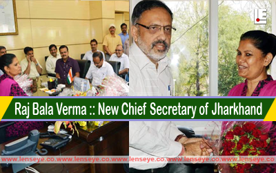 Senior IAS Officer of 1983 batch, Raj Bala Verma was today appointed as the new Chief Secretary of Jharkhand She replaces Rajiv Gauba, who will join as the Secretary, Union Urban Development Ministry, the officials said.