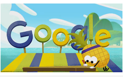 Google celebrates Olympics with Fruit Games Doodle