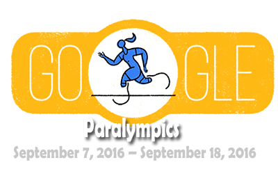 Google celebrates Start of the 2016 Paralympics with an animated Doodle.