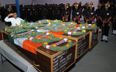 floral tribute to slain Army jawan