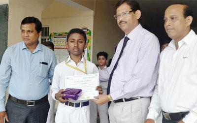 Swapnil of Oxford Bags3rd Prize at State Level Essay Competition
