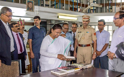 Governor of State of Jharkhand, Draupadi Murmu visited the XISS Campus.