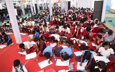 Painting competition organized by Cultural Directorate, Government of Jharkhand