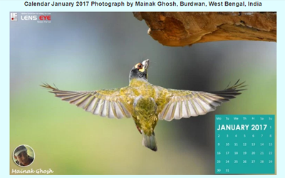 Lens Eye's  e- Calender : January - 2017 :: Mainak Ghosh [ Burdwan, West Bengal, India ]