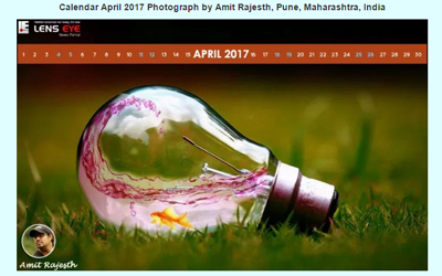 Lens Eye's  e- Calender : April - 2017 :: Amit Rajesth [ Pune, Maharashtra, India ]