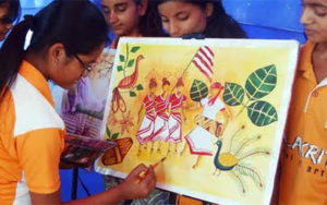 A two day painting workshop on occassion of Sarhul