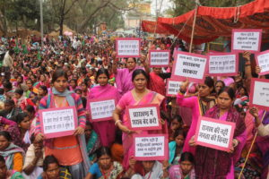 Protest by Gulabi Gang