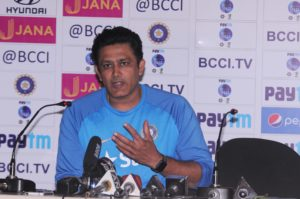 India Vs Australia Test Cricket match : Press conference by Anil Kumble.
