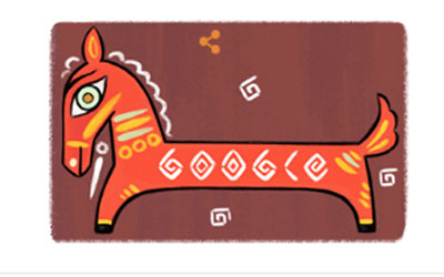 Google celebrated birthday of Indian painter, Jamini Roy with a Doodle