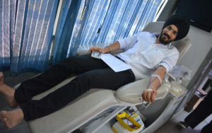 Blood Donation camp on the ocassion of Baisakhi