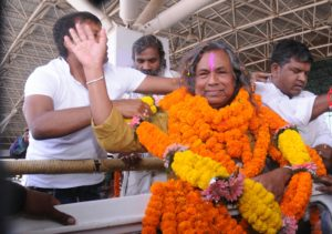 Grand Welcome to Padma Shree Mukund Nayak