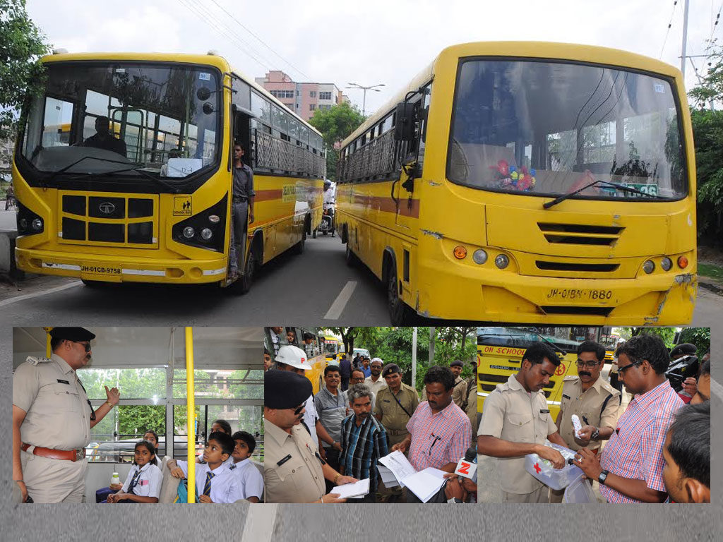 School Bus checking drive