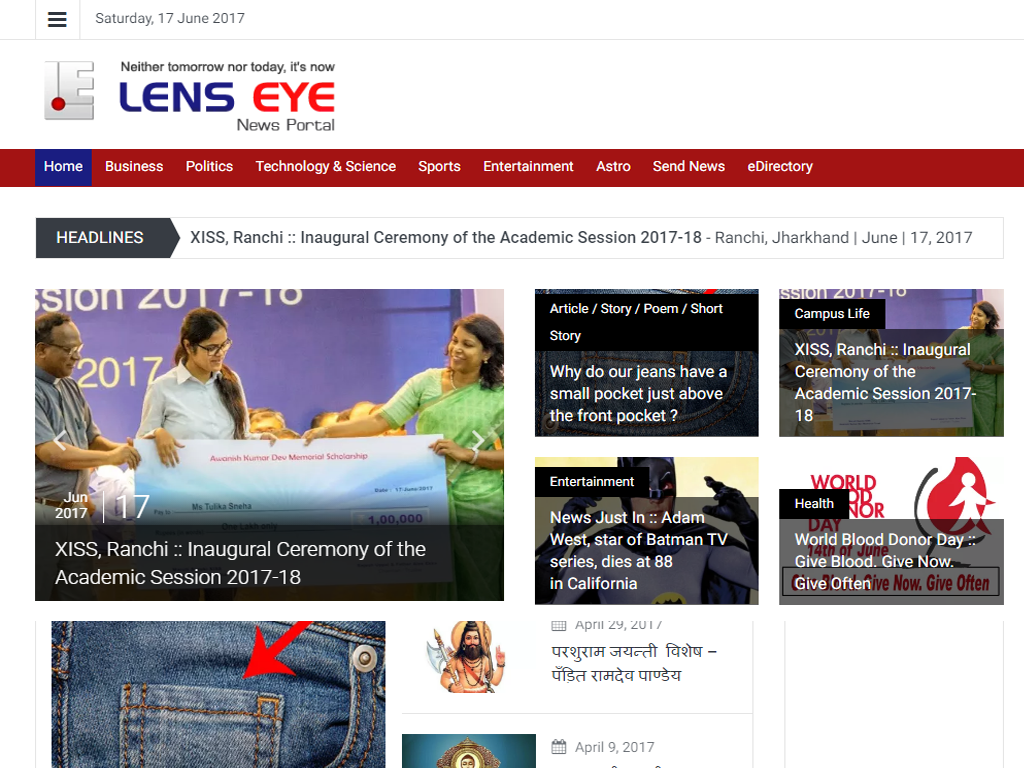 Good News : Lens Eye English in a New Look.