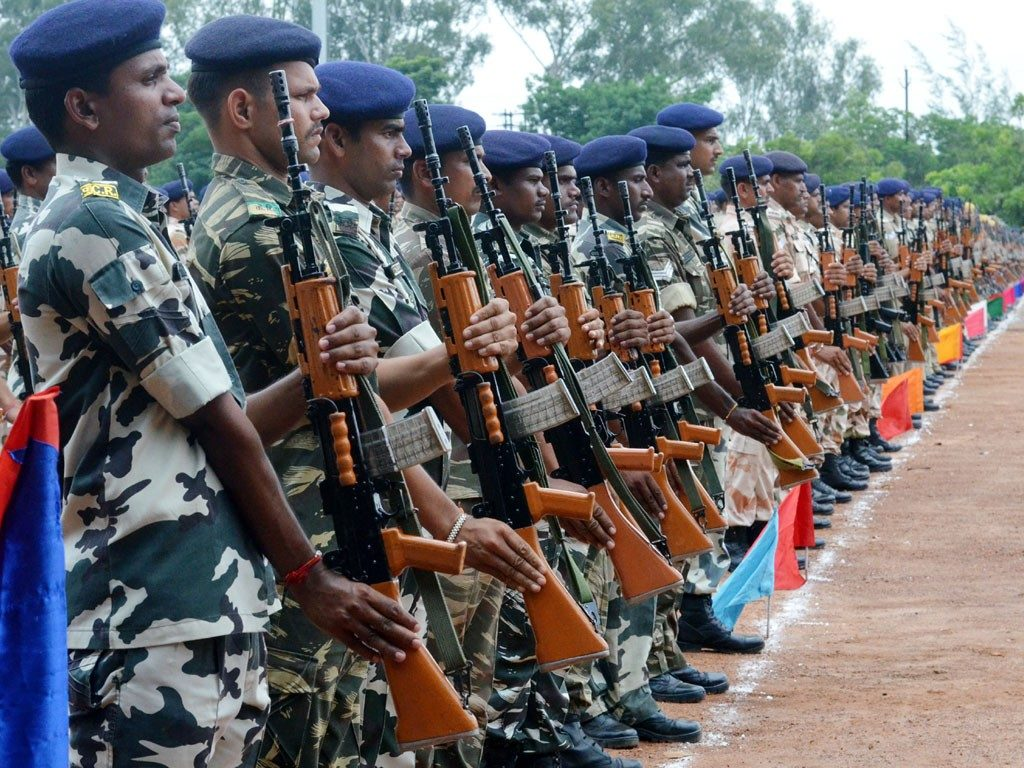 Rehearsal Parade for Independence Day at Morhabadi ground in Ranchi