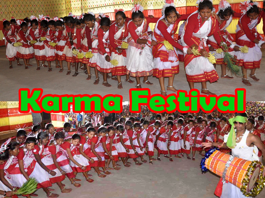 cultural programme on the eve of 'Karma Festival'