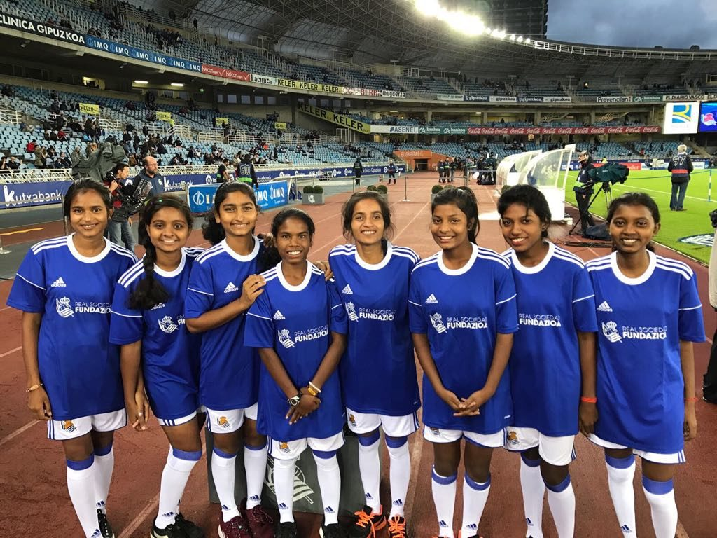 Spain's Real Sociedad train Jharkhand girls in Football