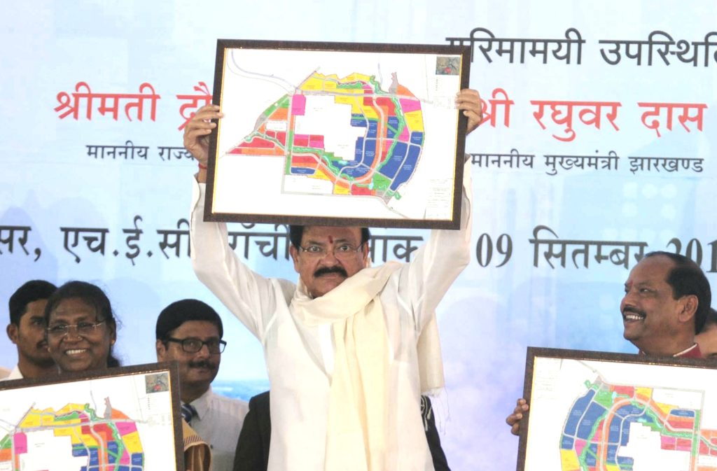 Lens Eye Exclusive :: Vice President, M Venkaiah Naidu lays the foundation stone of Smart City in Ranchi.