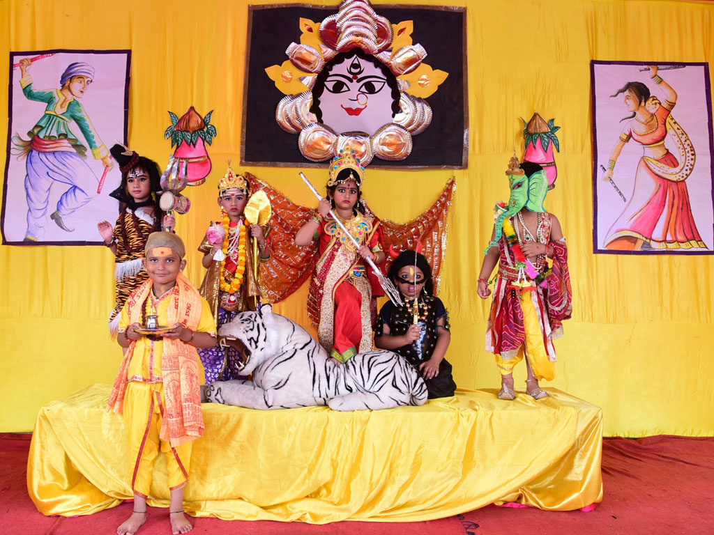 Ramleela on the occasion of Navratri byStudents of St Michael's Kids School
