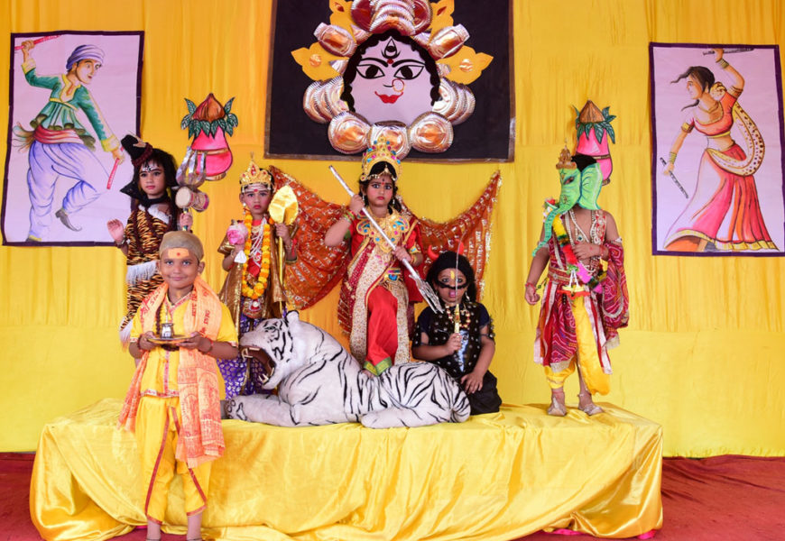 Ramleela on the occasion of Navratri by Students of St Michael's Kids School