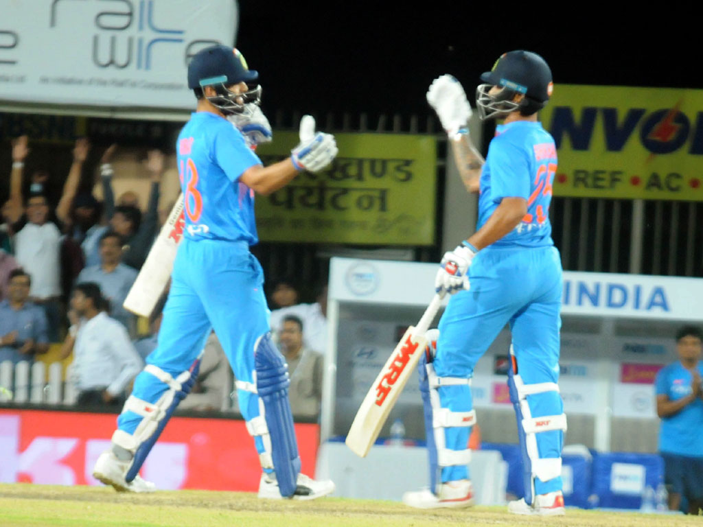 India won first T20 match by 9 wickets against Australia at JSCA stadium in Ranchi