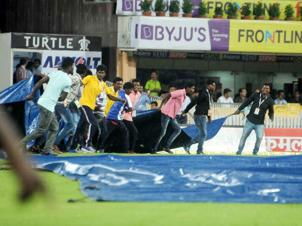 India and Australia T20 match : The Rain
