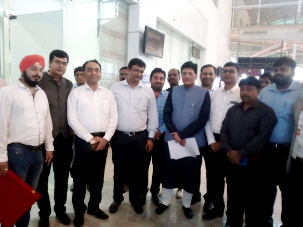 A Delegation of FJCCI met  Piyush Goyal [ Railway & Coal minister of India ]