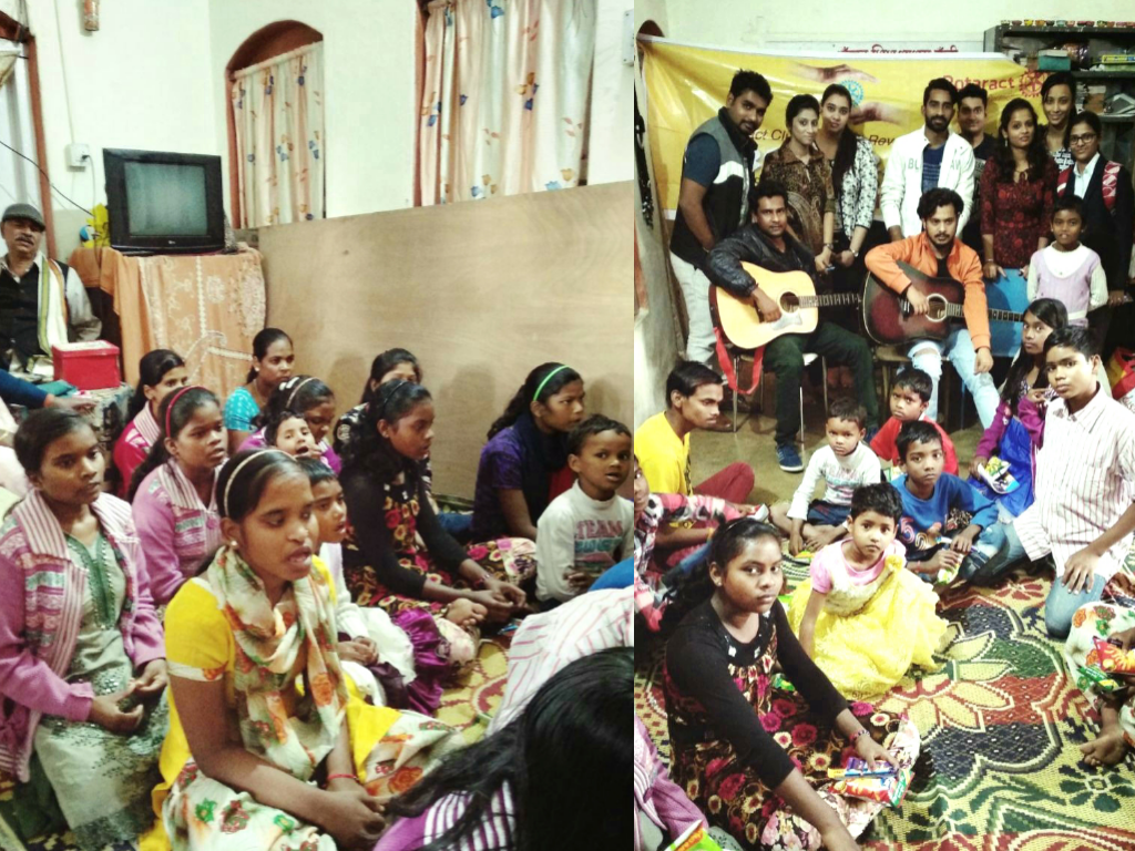 Children's Day :: Rotaract Club of Social Revolution organised a musical evening for the children of the  Anchal Sishu Ashram.
