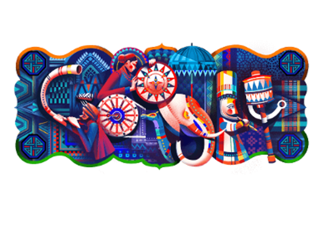 Google celebrated India's 69th Indian Republic Day with a doodle