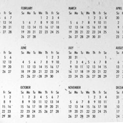 Same Calender for the Years 1950, 1961, 1967, 1978, 1989, 1995, 2006, 2017, 2023, 2034, 2045