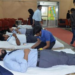XISS Initiative::Blood donation camp on World AIDS Day