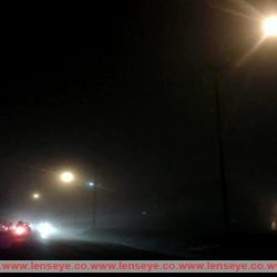 Dense Fog covered city faced poor visibility.