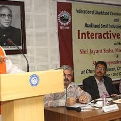 Union Minister Jayant Sinha in Interactive Meeting with FJCCI & JSIA.