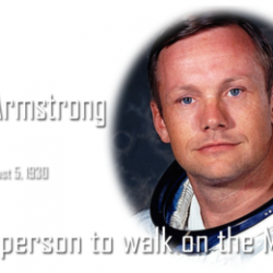 In History today :: Birthday of Neil Armstrong, the first person to walk on the Moon ( August 5, 1930 )