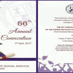 The 56th Annual Convocation of XISS on 7th of April 2017