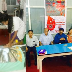 Blood Donation Camp by Lions Club of Ranchi Capital in memory of Late Tejbhan Midha.