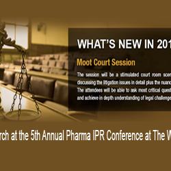 Exclusive Moot Court Session on the 10th of March at the 5th Annual Pharma IPR Conference, The Westin, Mumbai.