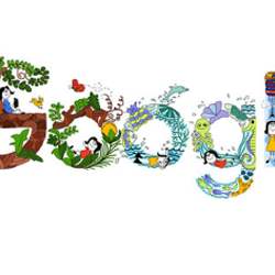 Google celebrates Children's Day with doodle drawn by an 11 year old Indian girl